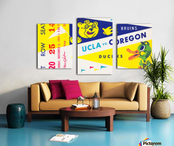 1954 UCLA vs. Oregon Canvas print