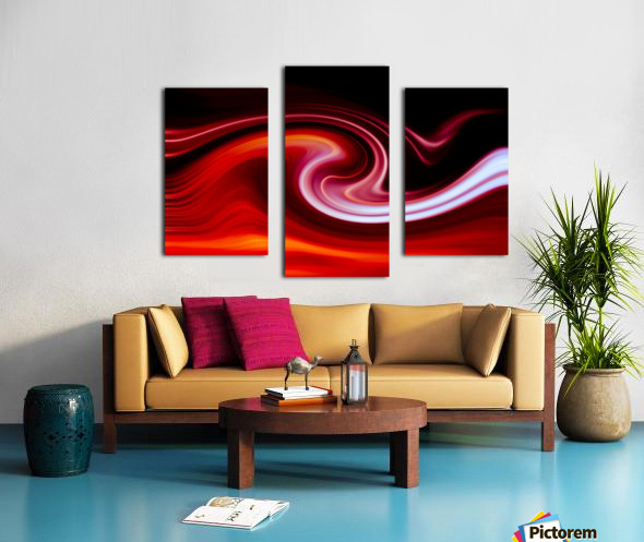 FIRE WAVE Canvas print