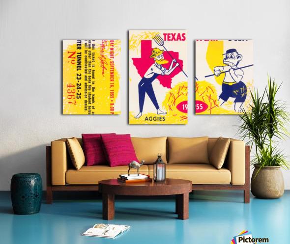 1955 UCLA vs. Texas Canvas print