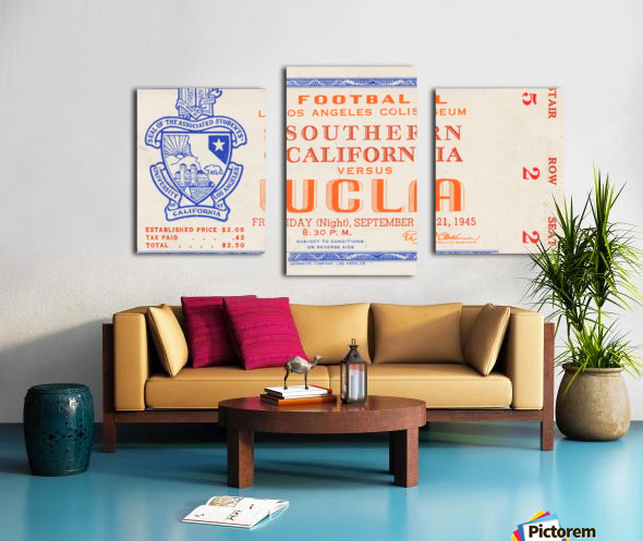 1945 USC vs. UCLA  Canvas print