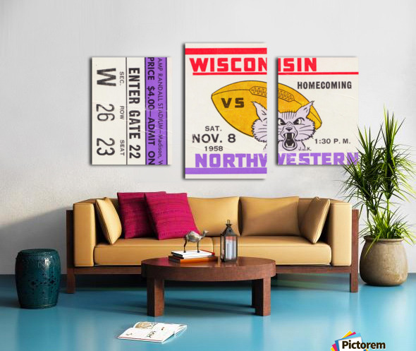 1958 Wisconsin vs. Northwestern Canvas print