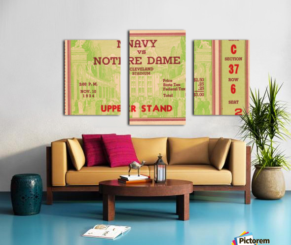 1934 Notre Dame vs. Navy  Canvas print