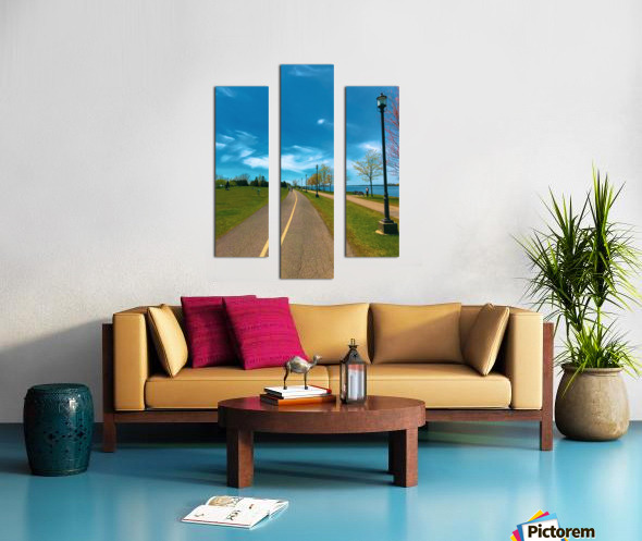 Cycling path Canvas print