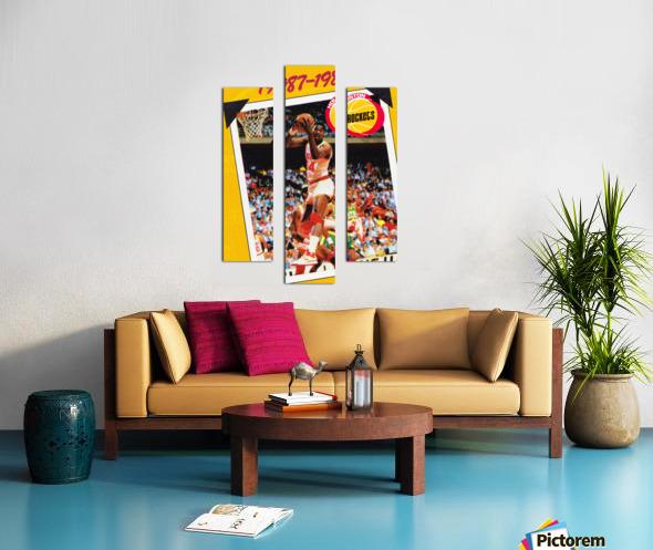 1987 Hakeem Olajuwon Houston Rockets Canvas print