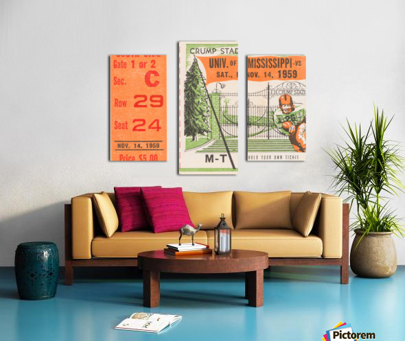 1959 Mississippi vs. Tennessee Canvas print