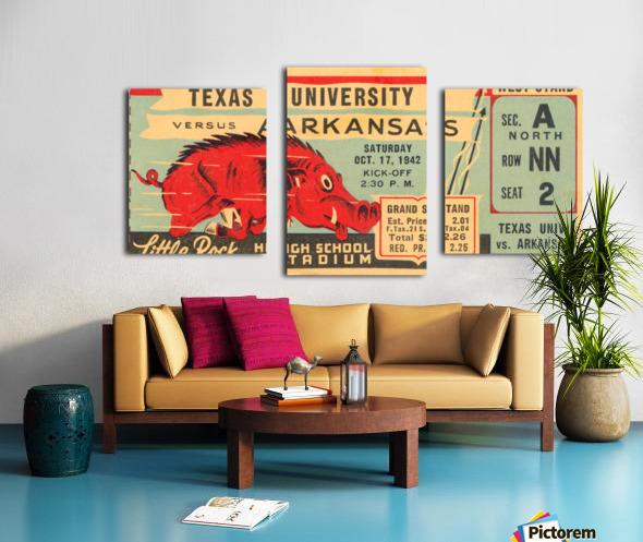 1942 Arkansas vs. Texas Canvas print