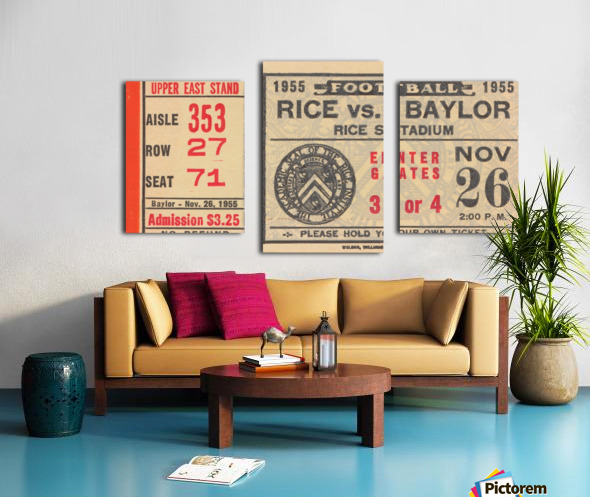 1955 Rice vs. Baylor Canvas print