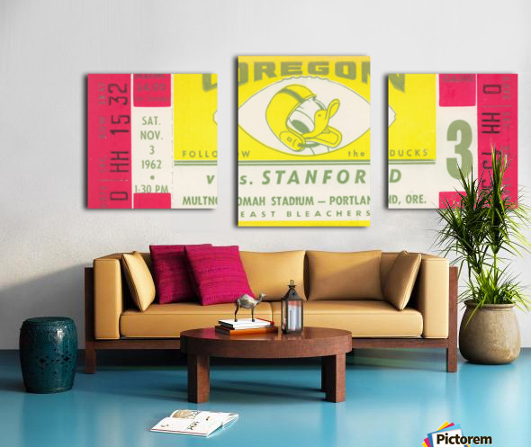 1962 Oregon vs. Stanford Canvas print