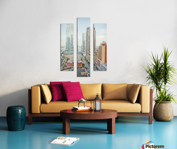 Architectural image of Hells kitchen Manhatten New york USA 2011 Canvas print