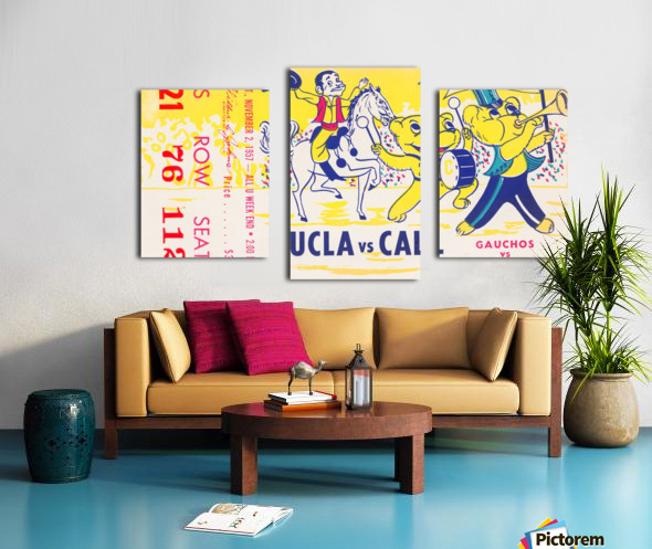 1957 UCLA vs. California  Canvas print