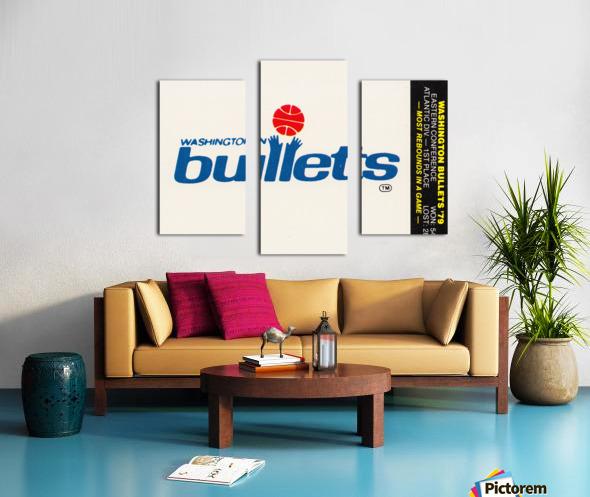 1979 Washington Bullets Fleer Decal  Canvas print
