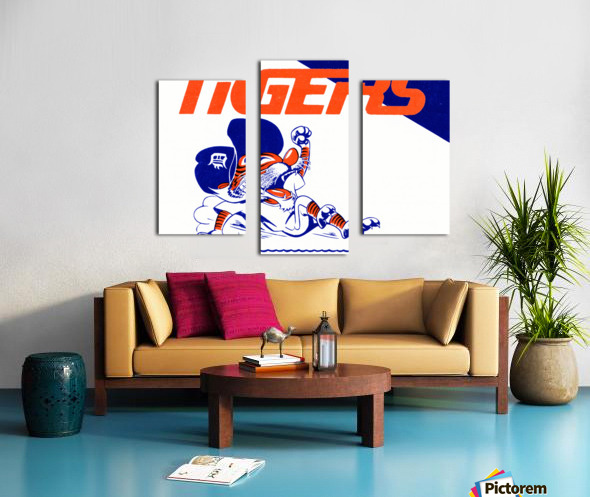 Tigers Cartoon Canvas print