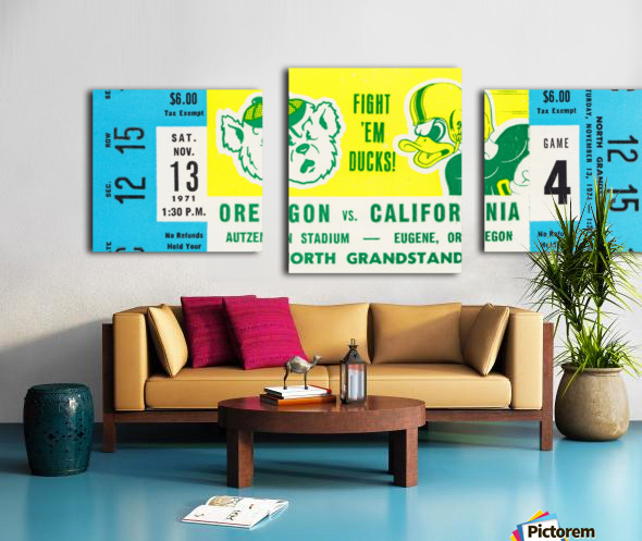 1971 Oregon vs. California Canvas print