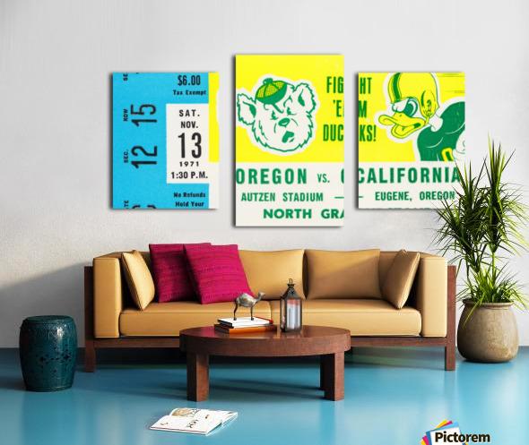 1971 California vs. Oregon Canvas print