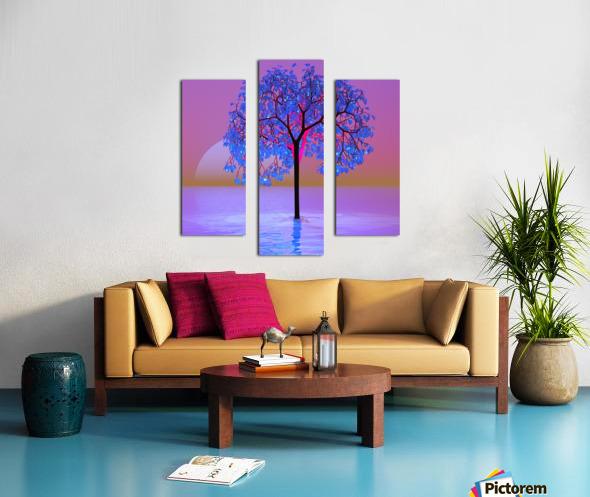 Tree Sunset Canvas print
