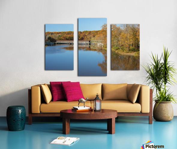 Grand River and Harpersfield covered bridge Canvas print