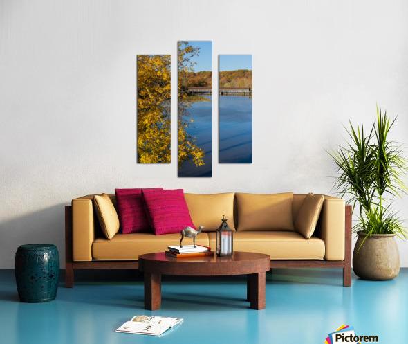Harpersfield Ohio covered bridge autumn 2020 Canvas print