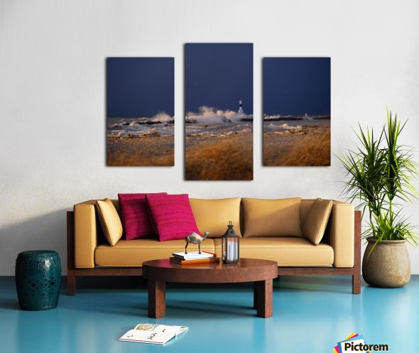 Conneaut lighthouse in storm Canvas print