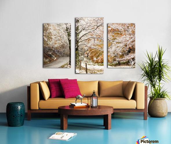 October snow Canaan Valley WVa Canvas print