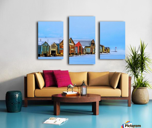 Boat Houses Canvas print