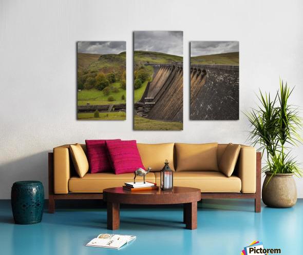 The Claerwen reservoir dam in Powys Canvas print