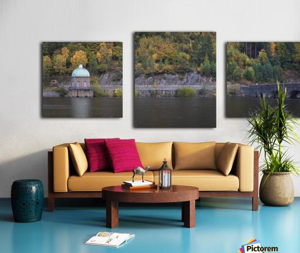 The Carreg Ddu reservoir Canvas print