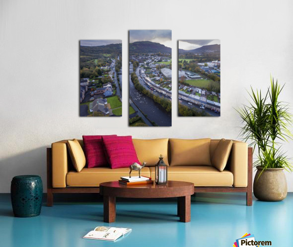 The river Tawe in Ystradgynlais Canvas print