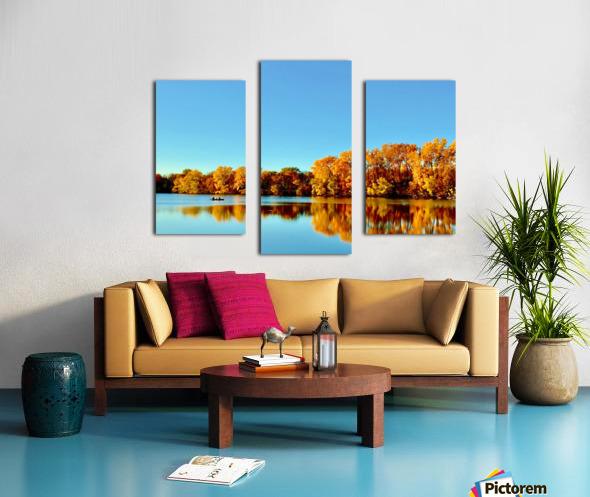 Autumn Canoe Canvas print