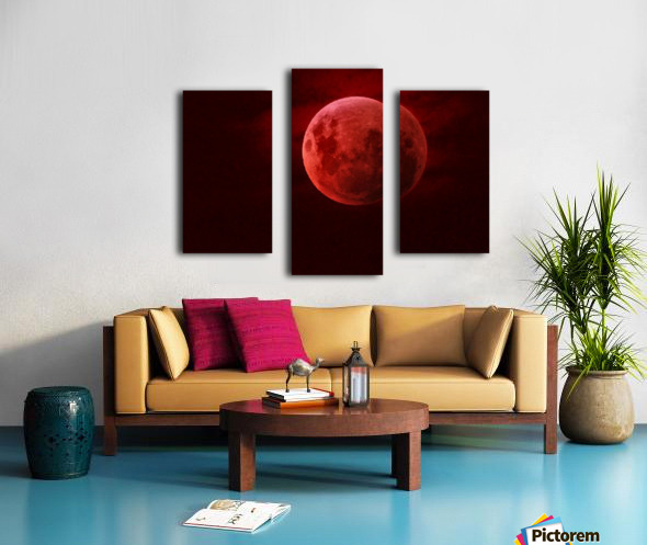 One Red Moon Impression sur toile