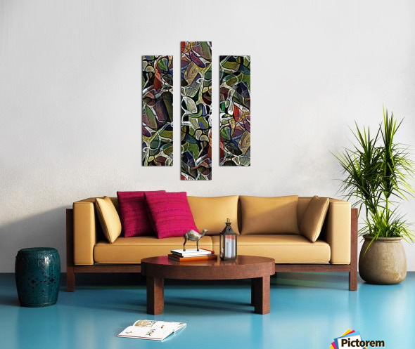 Linear Geometric Abstract  Canvas print