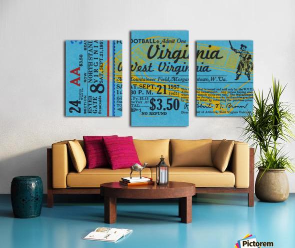 1957 Virginia vs. West Virginia Canvas print
