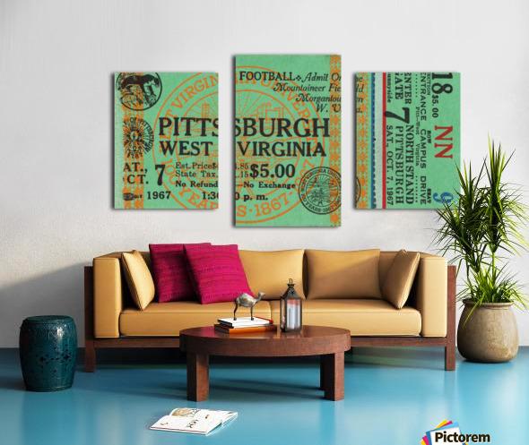 1967 West Virginia vs. Pitt Canvas print