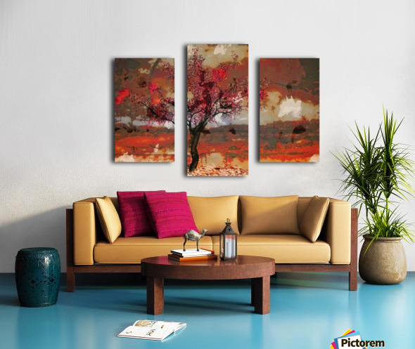 Summer cherry tree Canvas print
