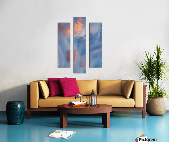 Colored clouds. Canvas print