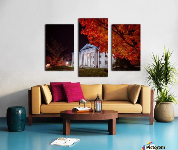 Courthouse Autumn Night Canvas print