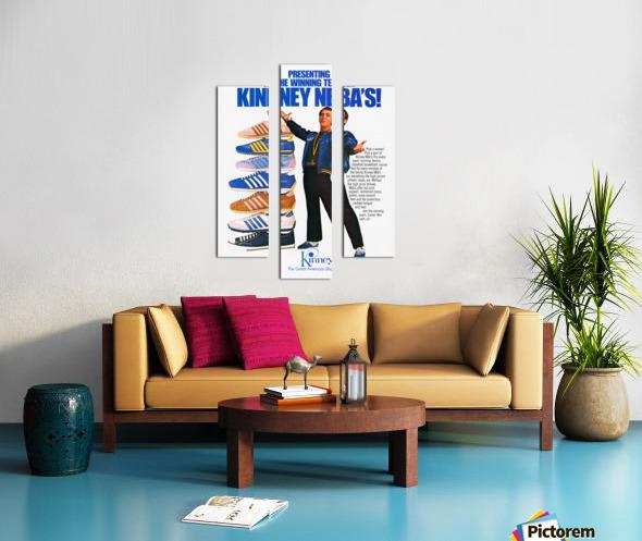 1979 Kinney NBA Shoes Ad Canvas print