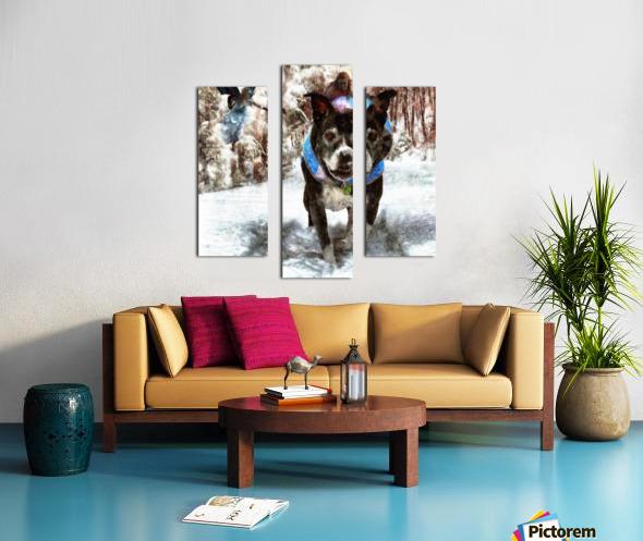 Tux with the Fairies Canvas print