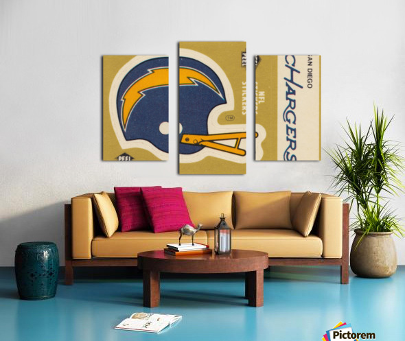 1982 Fleer Sticker San Diego Chargers Art Canvas print