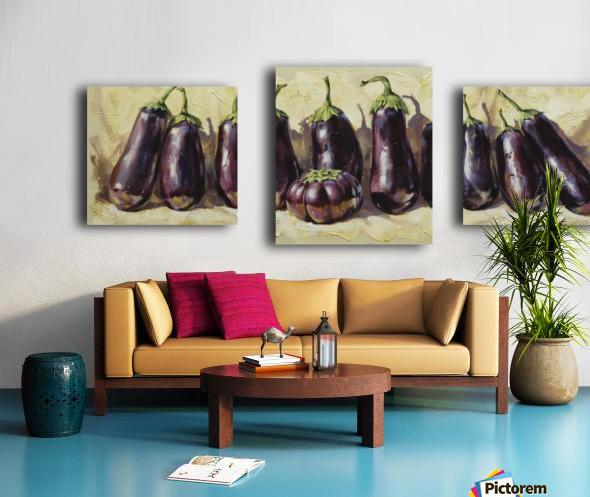 Eggplant Canvas print