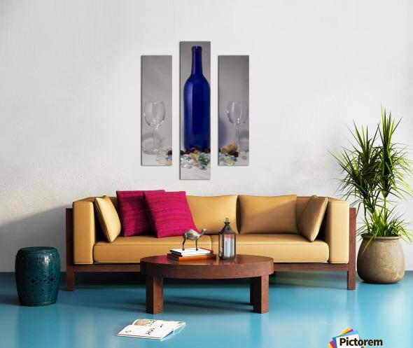Blue Wine Bottle Canvas print