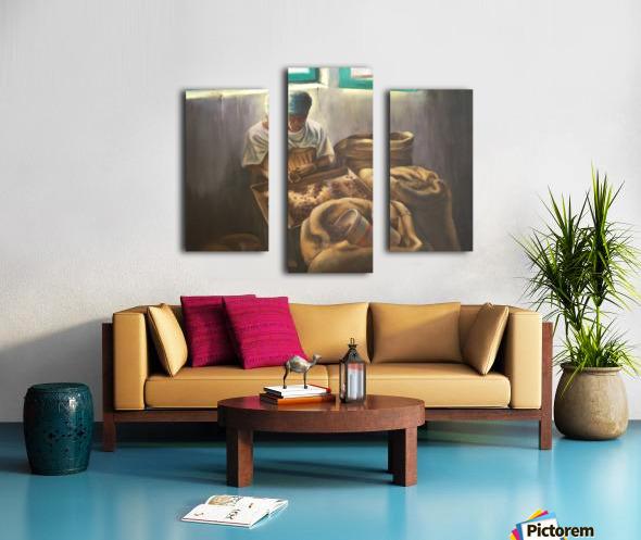 The Nutmeg Sorter Canvas print