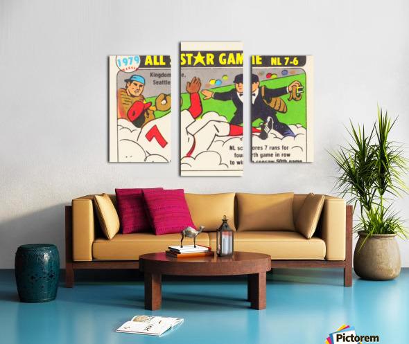 1979 All Star Game Baseball Art Canvas print