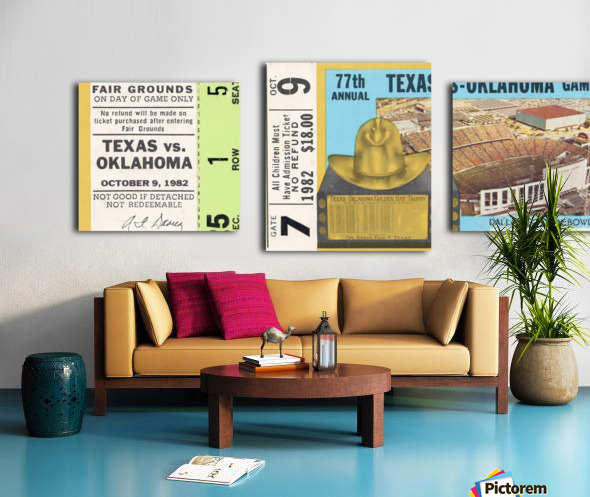 1982 Oklahoma vs. Texas Canvas print