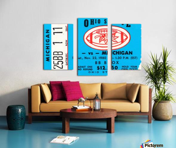1980 Ohio State vs. Michigan Canvas print