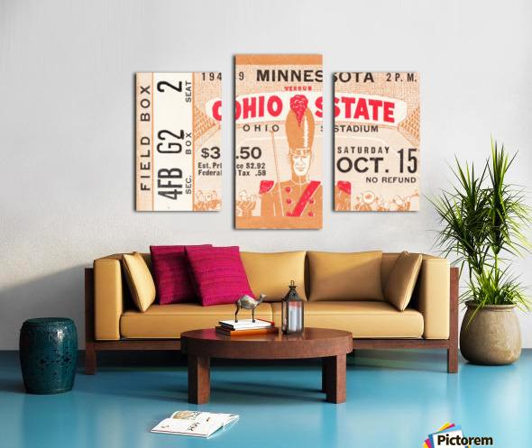 1949 Ohio State vs. Minnesota Canvas print