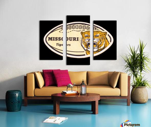 1965 Missouri Tiger Football Art Canvas print