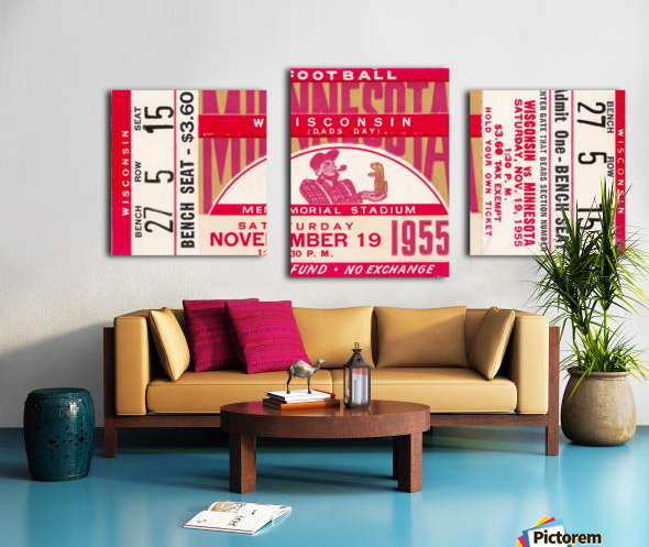 1955 Wisconsin vs. Minnesota Canvas print
