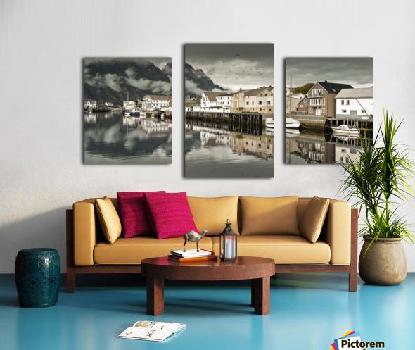 Fishing village, Lofoten, Norway Canvas print