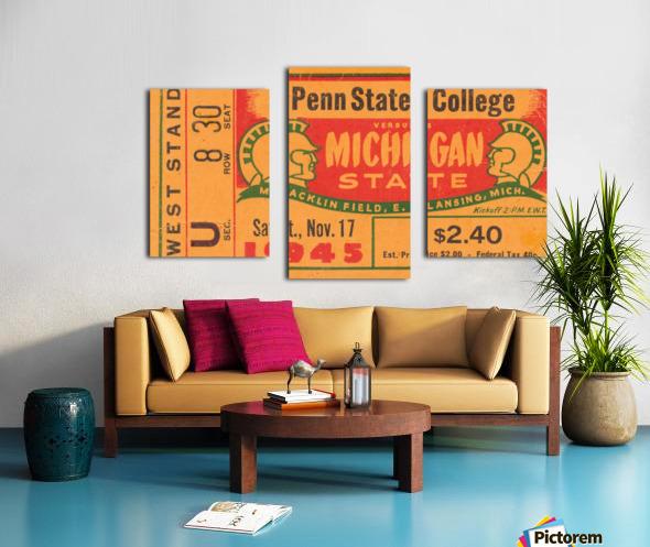 1945 Michigan State vs. Penn State Canvas print