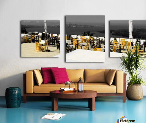 The chairs Canvas print